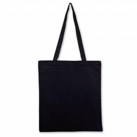 Bavlněná taška černá BT01 - 140g - 38x42 cm