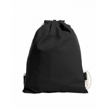 Sportovní černý bavlněný batůžek BS46 - 170g - 38x45 cm