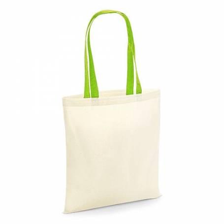 Bavlněná taška naturální, dvoubarevná - BT38 - 140g - 38x42 cm
