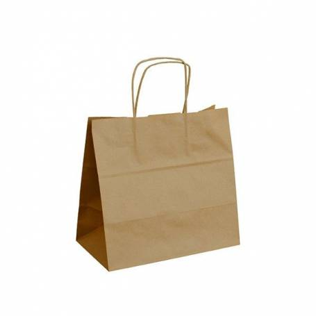 Papírová taška hnědá ExtraTWIST PT13ET - 28x17x27 cm