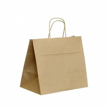 Papírová taška hnědá ExtraTWIST PT14ET - 32x20x28 cm
