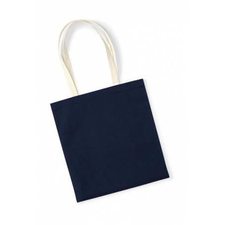 Organická bavlněná taška BBT08 - 340g - 38x42 cm - kontrastní ucha