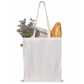 Fairtrade bavlněná taška natural FBT04 - 155g - 38x42 cm