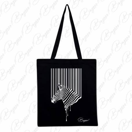 Designová plátěná taška od Bagooo! - Zebra