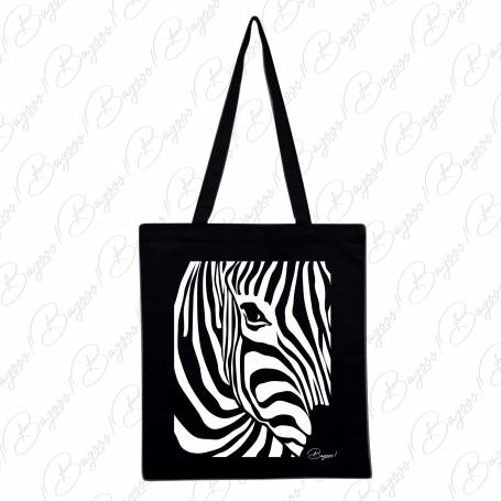Designová plátěná taška od Bagooo! - Zebra 02