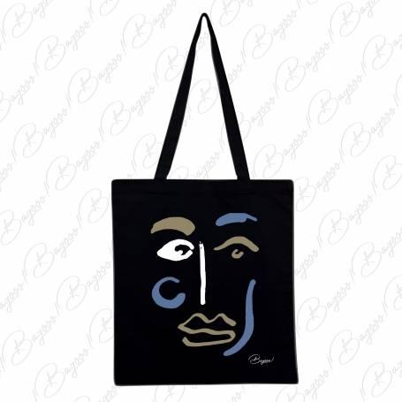Designová plátěná taška od Bagooo! - Tvář