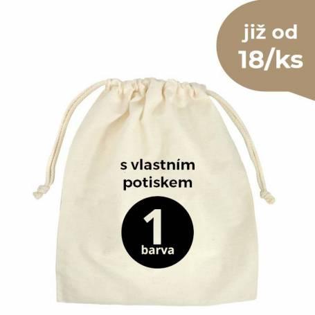 Bavlněný sáček natural s vlastním potiskem BS04 -140g - 40x50 cm