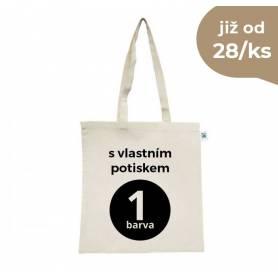 Fairtrade bavlněná taška natural s vlastním potiskem FBT04 - 155g - 38x42 cm