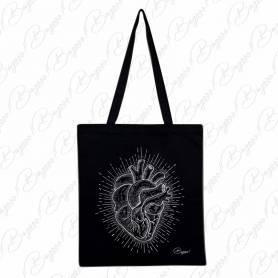 Designová plátěná taška od Bagooo! - Srdce