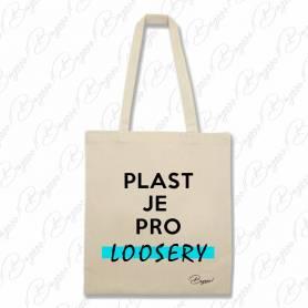 Designová plátěná taška od Bagooo! - Plast je pro Loosery