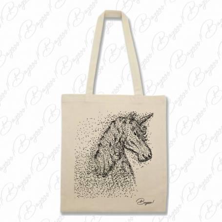 Designová plátěná taška od Bagooo! - Jednorožec Unicorn