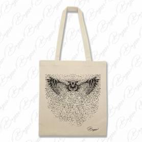 Designová plátěná taška od Bagooo! - Sova