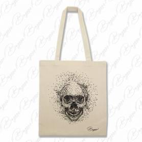 Designová plátěná taška od Bagooo! - Lebka