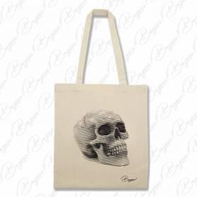 Designová plátěná taška od Bagooo! - Lebka 02