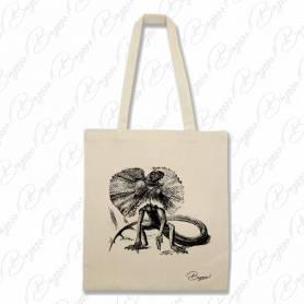 Designová plátěná taška od Bagooo! - Ještěr