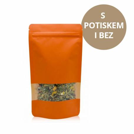 Doypack ZIP | KRAFT/PET/CPP - ORANGE - 750 ml