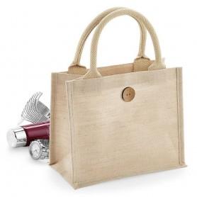 Jutová taška Mini Gift natural JT08 - 26x22x14 cm