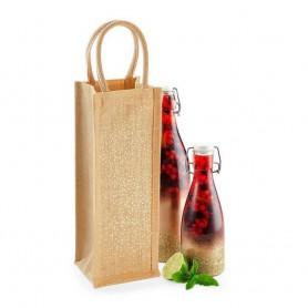 Jutová taška na víno JT16 - 12x35x11 cm
