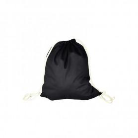 Bavlněný batůžek černý BV01 - 140 gr - 37x46 cm